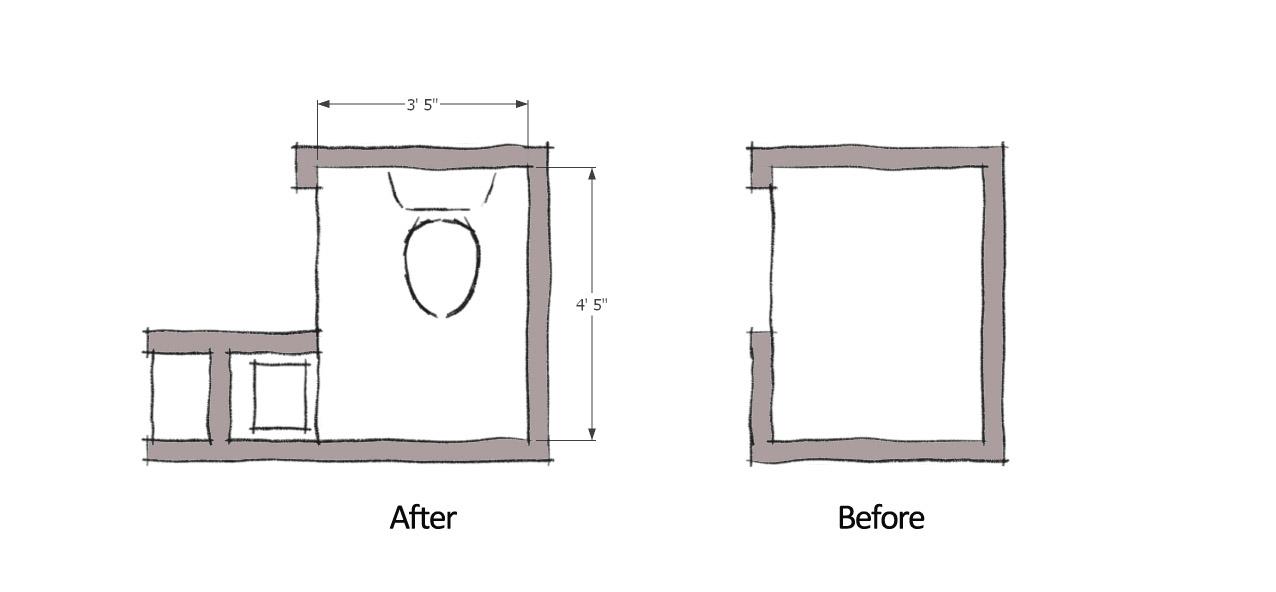 Small powder room layout joy studio design gallery - Small half bathroom layout ...