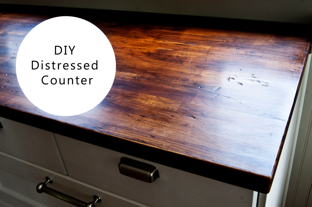 diy distressed wood counter jessepeckwrites